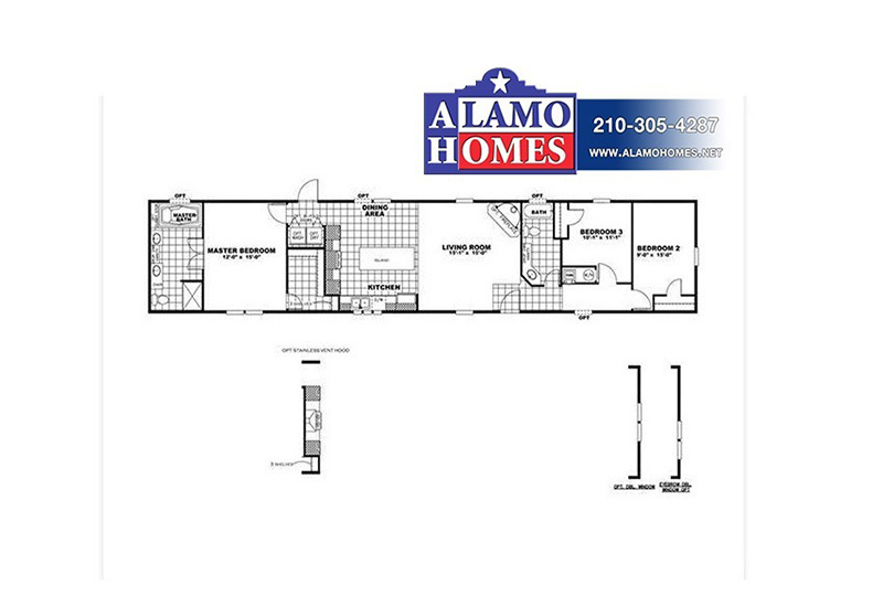 Clayton Smart Buy SMB16803C Mobile Home Branded Floor Plan