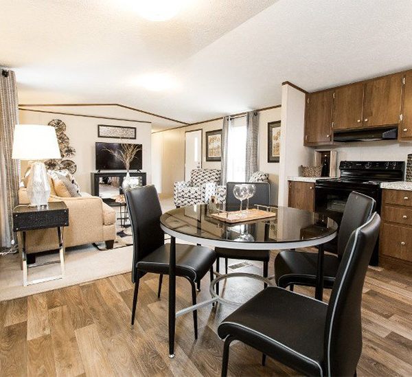 TruMH EUPHORIA Mobile Home Dining Area and Living Room
