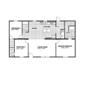 TRUMH SATISFACTION Mobile Home Floor Plan