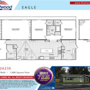 Fleetwood Eagle 32623E Mobile Home Floor Plan