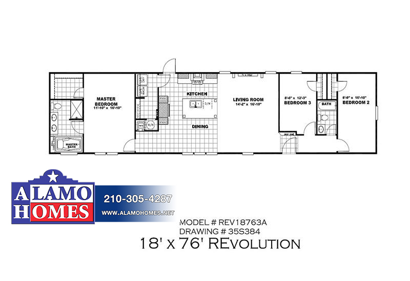 REVOLUTION REV18763AH Mobile Home Branded Floor Plan