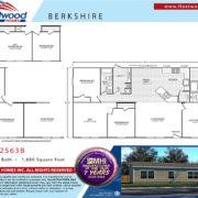 Fleetwood Berkshire 32563B Mobile Home Floor Plan