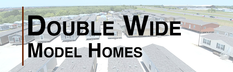 double wide model homes