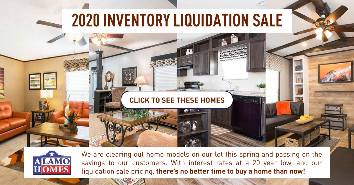 inventory liquidation sale in san antonio mobile homes in 2020