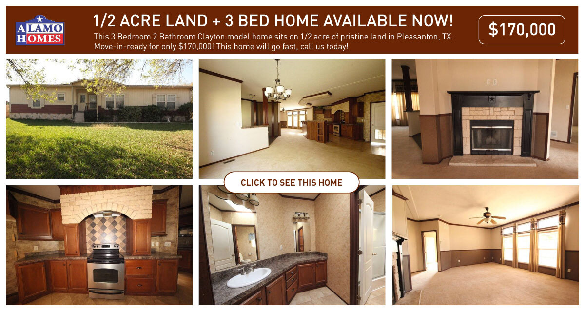 mobile homes in San Antonio land home packages